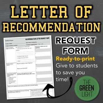 Help simplify the letters of recommendation writing process with this ready-to-print one-page form. Have students seeking college recommendation letters complete the form, so you can have all the information you need to write a glowing letter on one sheet of paper.The form can be used for college/university recommendations, scholarships, jobs, summer programs, internships, and more.Want more college prep resources?