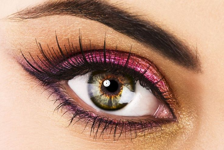 vackert och enkelt! lila ögonskugga <3