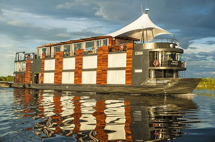 Aria Amazon Cruises and Tours in Peru. A Luxury Rainforest Tour Navigating to Pacaya Samiria in the Peruvian Amazon. Aria is One of Peru's Finest Riverboats