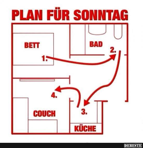 Plan für Sonntag