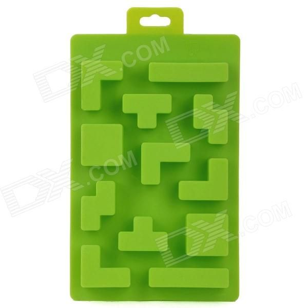 Model: N/A; Quantity: 1 piece(s) per pack; Color: Green; Material: Silicone; Specification: Brick design, DIY ice cube mould; Packing List: 1 x Ice cube mould; http://j.mp/VG3FF7