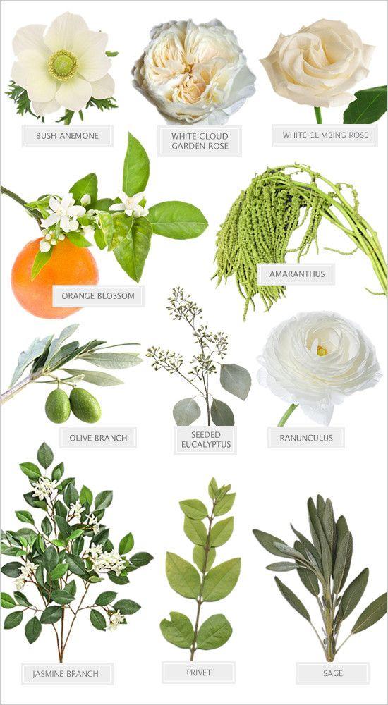 white and green bouquet @weddingchicks