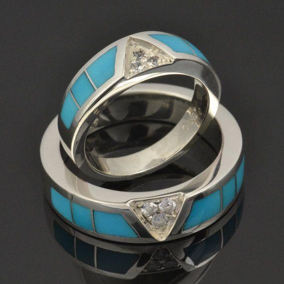 34 best Turquoise Wedding Rings & Wedding Sets images on ...