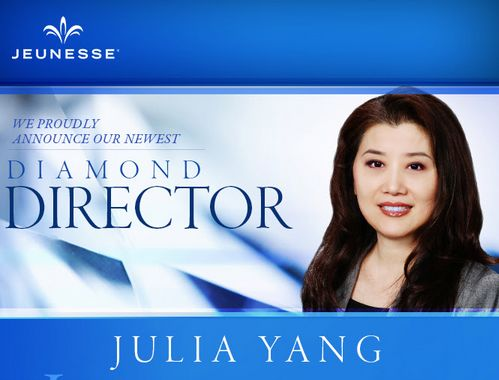 We proudly announce our newest Diamond Director, Julia Yang. Please join us in congratulating Julia on her remarkable achievement.