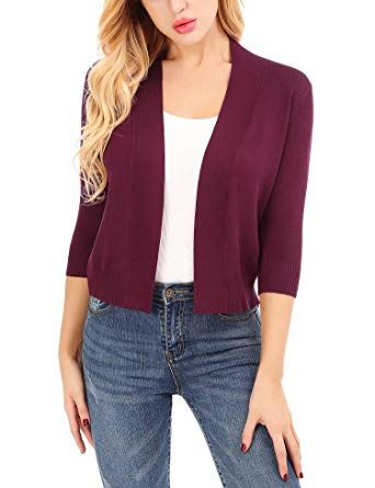 e3a36e18ed The perfect Uniboutique Lightweight Shrugs for Women Open Front Cardigan  Sweaters 3 4 Sleeve online.   18.99  findanew from top store