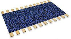 New Full Size Custom Width Bed Slats with a Blue Zebra Animal Print Fabric Roll – Choose your needed size – Eliminates the need for a link spring or box spring! #ZebraPrintBedding