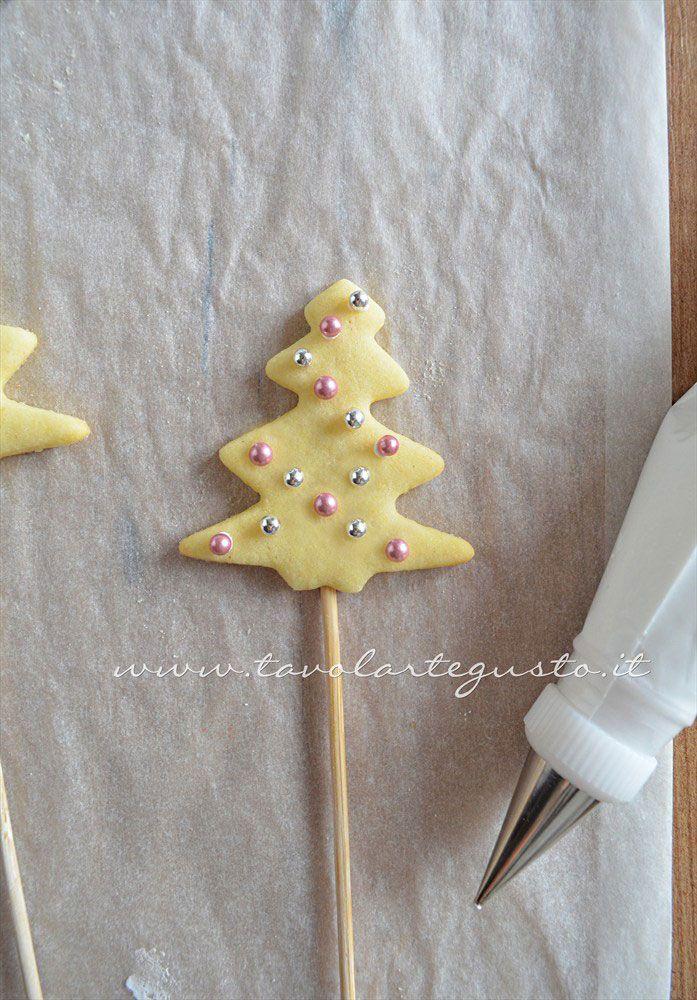 Decorare Biscotti su stecco(4) - Ricetta Biscotti lecca lecca natalizi (Christmas Cookies pops)
