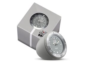 Lolliclock Rock Grey. The ultimate desk accessory or gift. 44mm, ABS Polycarbonite case + PC Rock backcover, 1ATM, PC21S movement. Buy online at www.lolliclock.com.au