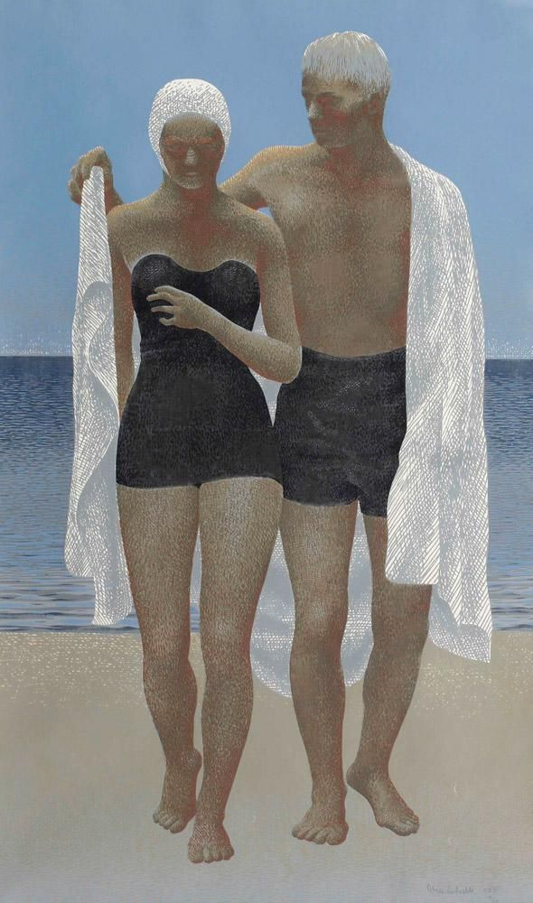 ^ Alex Colville | After Swimming