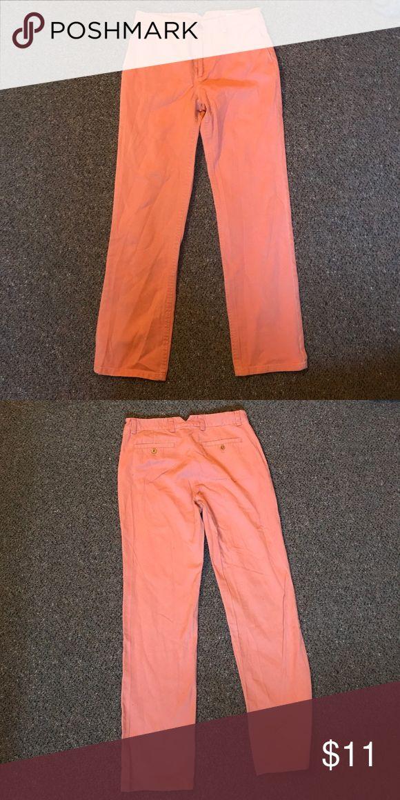 Salmon Steven Alan Pants Straight leg salmon pants from Steven Alan, size 6 Steven Alan Pants Straight Leg