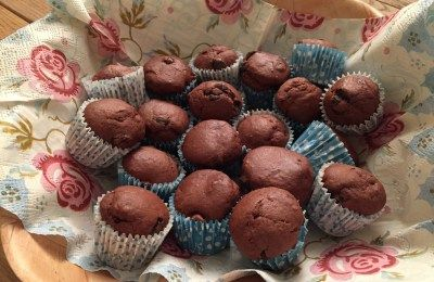 These little double choc mini muffins will help you through the day.