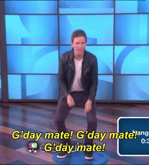 Also, how cute is he?   Eddie Redmayne's Animal Impressions Are Legitimately Funny