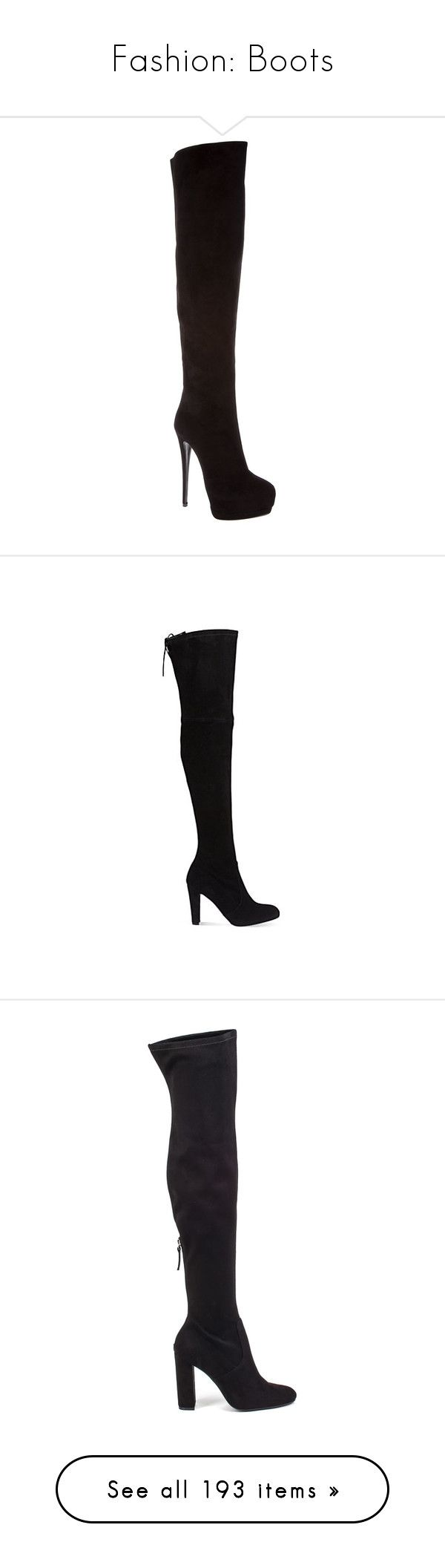 """""""Fashion: Boots"""" by katiasitems on Polyvore featuring shoes, boots, heels, giuseppe zanotti, zapatos, women, thigh high boots, thigh high heel boots, black stilettos and black platform boots"""