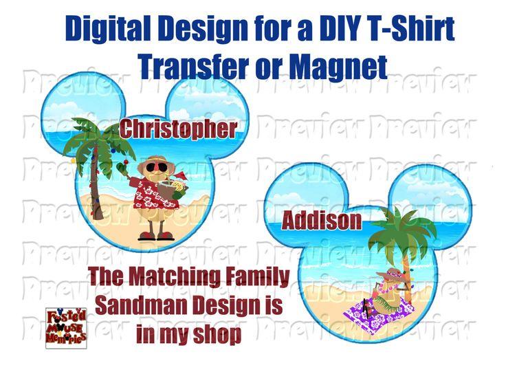 Printable Christmas Cruise Sandman Shirt Transfer or Door Magnet - DIY Christmas Shirts - Christmas Cruise Door Magnet Personalized Sandman by FrostedMouseMemories on Etsy