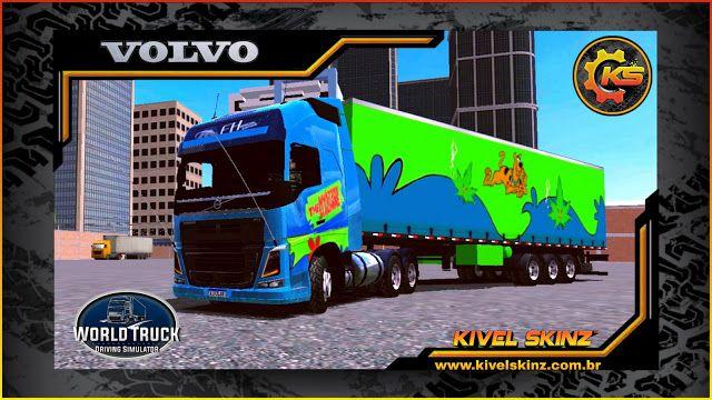Skins Volvo Fh16 750 Conj Scooby Doo Caminhoes Brasileiros