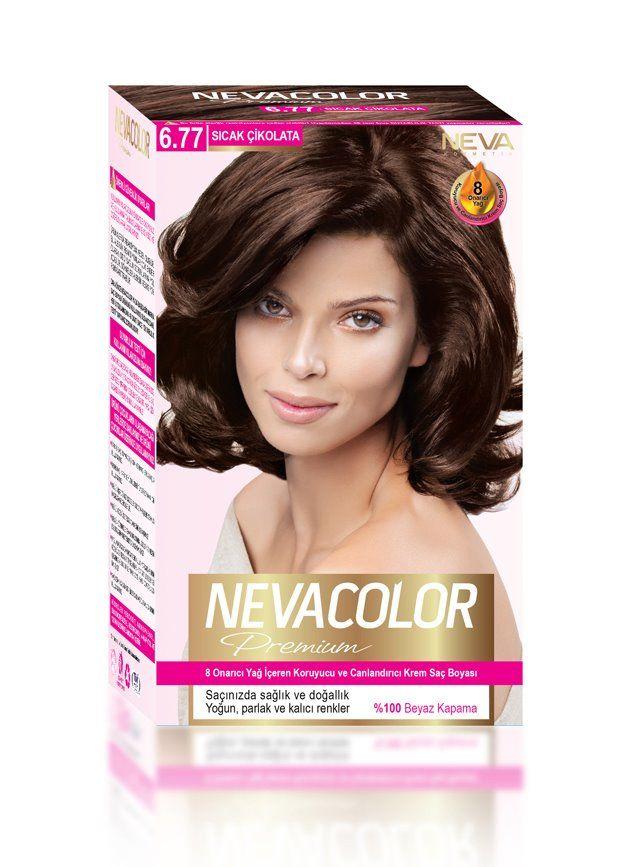 Nevacolor Premium Sac Boyasi 6 77 Sicak Cikolata Sac Sac Boyasi