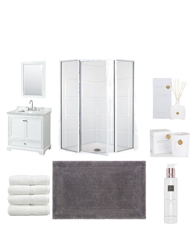 Small bathroom by majkenmatilda on Polyvore featuring polyvore, interior, interiors, interior design, home, home decor, interior decorating, Christy, Rituals, Wyndham Collection and bathroom
