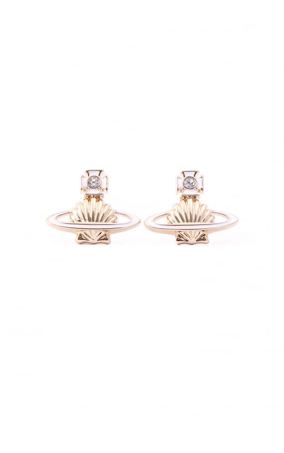 Vivienne Westwood Jewellery medea bas relief shell earrings