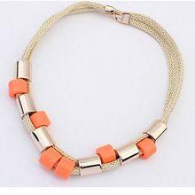 DILILI 2017 новая мода женская одежда аксессуары Мода геометрические пластиковые круглые бусины ожерелья цепи xsn622