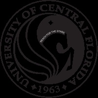 "The Seal of the University of Central featuring a Pegasus emboldened with the phrase ""Reach for the Stars,"" surrounded by ""University of Central Florida 1963"""