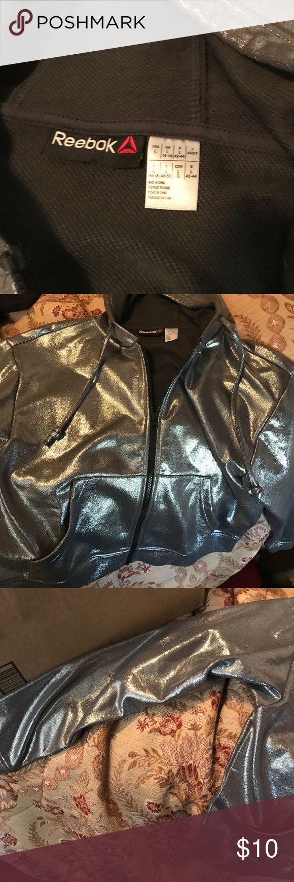 Reebok Silver Hoodie Brand New Size large Tops Sweatshirts & Hoodies