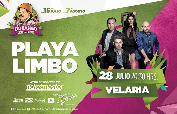 Concierto Playa limbo - Feria Nacional Durango 2016