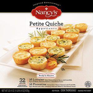 Nancy's Petite Quiche Appetizers look at Publix, Sam's