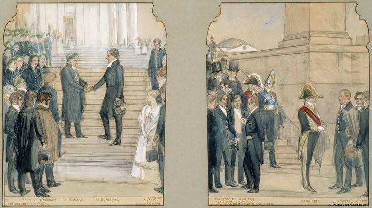 Kansallisgalleria - Taidekokoelmat - Riemujuhlapromotio 1840, seinämaalauksen kilpailuehdotus