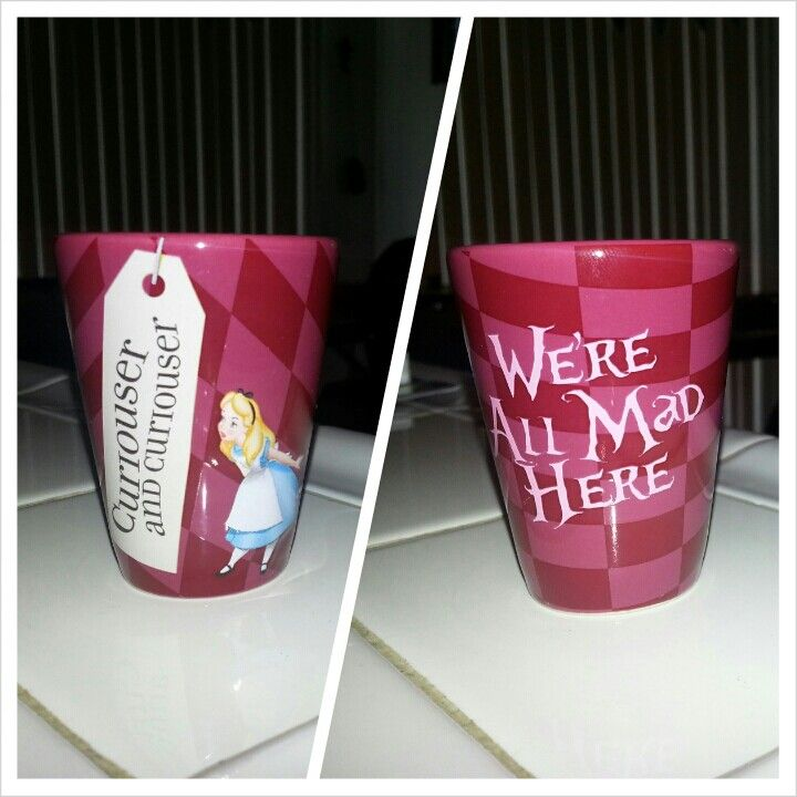 "Alice in Wonderland shot glass. I'm surprised it doesn't say ""drink me"""
