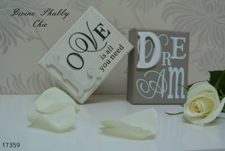 LOVE / DREAM Blocks This adorable blocks come in cream and beige. Each one has a Wording to from and back as shown in photograph These would make a lovely addition to the home or a fabulous gift Sold individually and Priced at £4.50 each plus p  This item is subject to stock availability