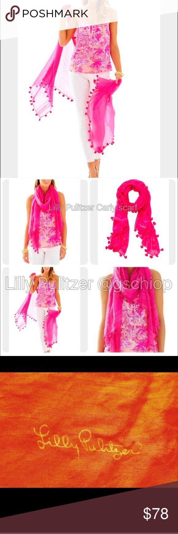 Lilly Pulitzer Pink scarf Elsa Top Resort White Lilly Pulitzer. As seen. NWT. I don't trade but feel free to make an offer. Lilly Pulitzer Accessories Scarves & Wraps