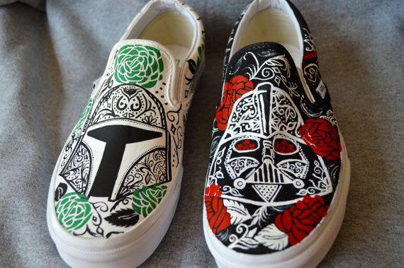 athletic footwear stores retailers Star Wars Sugar Skull Shoes by aDAMSELinDISTRESS on Etsy   100 00