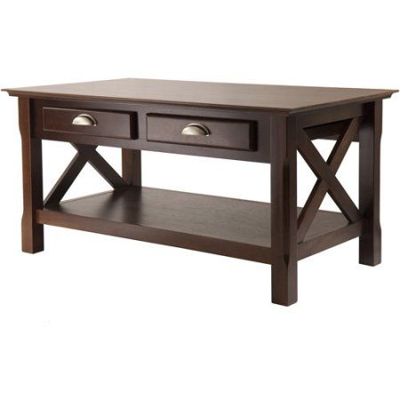 Xola Coffee Table With Drawers, Cappuccino, Brown