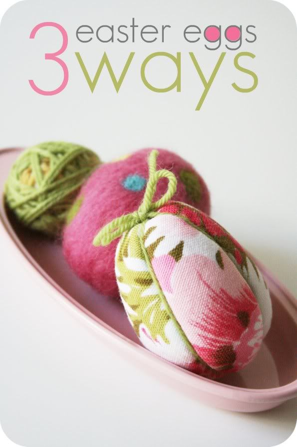 These eggs aren't edible but they sure are pretty, and very easy to make.: Fabrics Eggs, Crafts Easter, Easter Crafts, Easter Spr, Fun Projects, Easter Projects, Crafty Easter, Easter Eggs, Eggs Crafts