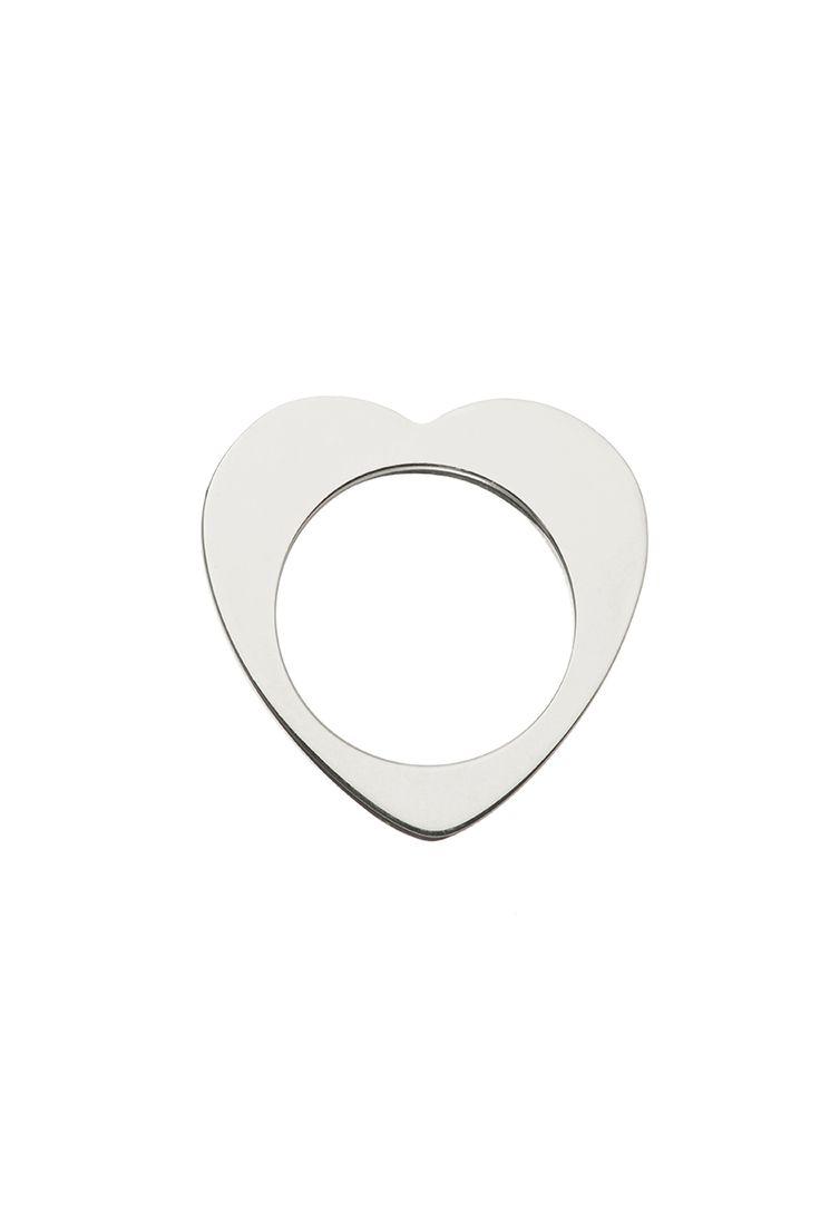 Tatty Devine Fine Sterling Silver Heart Ring