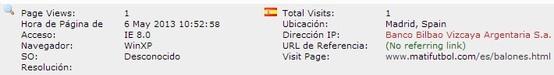 Banco Bilbao Vizcaya Argentaria S.A. Madrid, Spain.  https://www.bbva.es/particulares/index.jsp