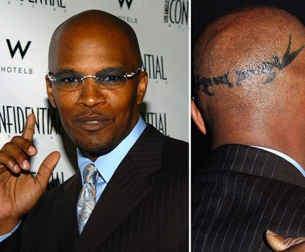 Jamie Foxx can do whatever the hell he wants. | The 17 Most Outrageous Celebrity Tattoos