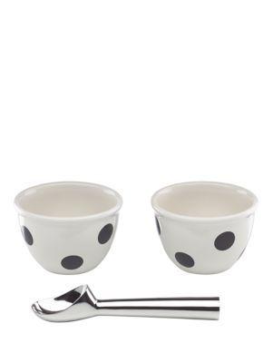 Kate Spade '3 Piece Ice Cream Set' in black/white: $40