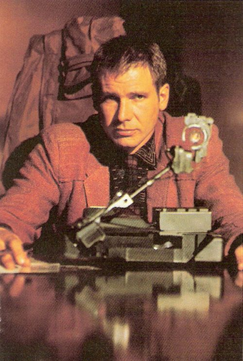 Blade runner Rick Deckard. The Voight-Kampff machine.