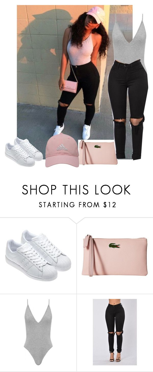 """"""""""" by nasza ❤ liked on Polyvore featuring adidas, Lacoste and adidas Golf"""