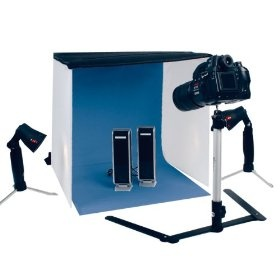 Kit de estudio fotográfico portátil con tienda, luces y trípode  de König