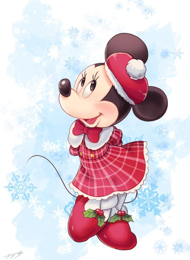 Minnie is dazzling in her winter attire.