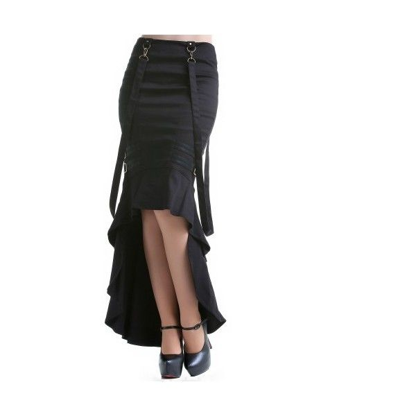 Gothic Skirts and Steampunk Skirts   Crazyinlove International ❤ liked on Polyvore featuring skirts, white knee length skirt, white skirt, goth skirt, steam punk skirt and gothic lolita skirts