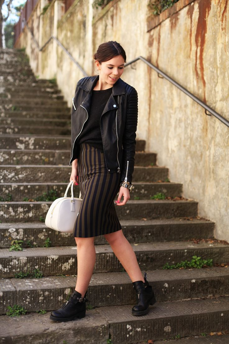 Black and khaki for a casual look
