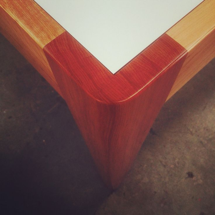 Dining table made from Chilean Lenga designed and manufactured by Maverick Joinery