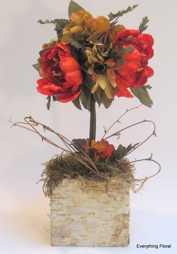 FALL TOPIARY DECOR Fall Décor Tuscan Colors By EverythingFloral, $28.00