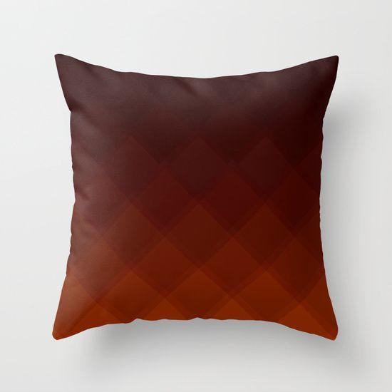 Chocolate Tile Pattern pillow