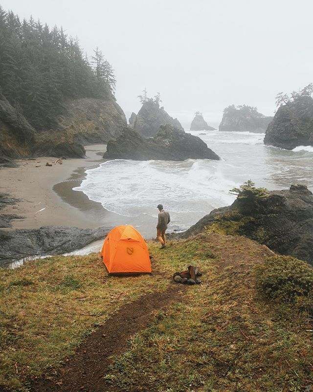Foggy mornings in the Oregon coast.