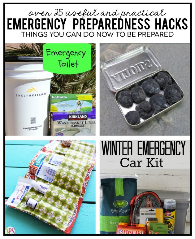 Over 25 Emergency Preparedness Hacks - things you can do now to feel more prepared in the case of an emergency!