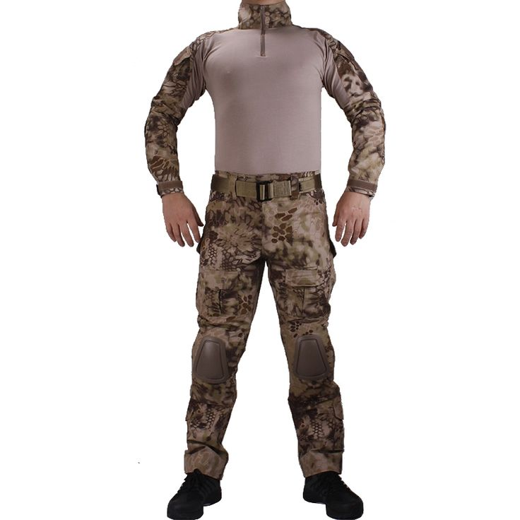 (57.43$)  Buy here - http://aiv4z.worlditems.win/all/product.php?id=32742164274 - Camouflage BDU Highlander Combat uniforms shirt with broek and elbow & knee pads militaire game cosplay uniform ghilliekostuum